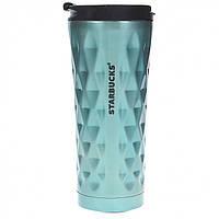Термокружка Starbucks Diamond Style 500 мл Бирюзовый 101200Б, КОД: 297615