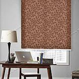 Рулонные шторы Капля коричневый, фото 2