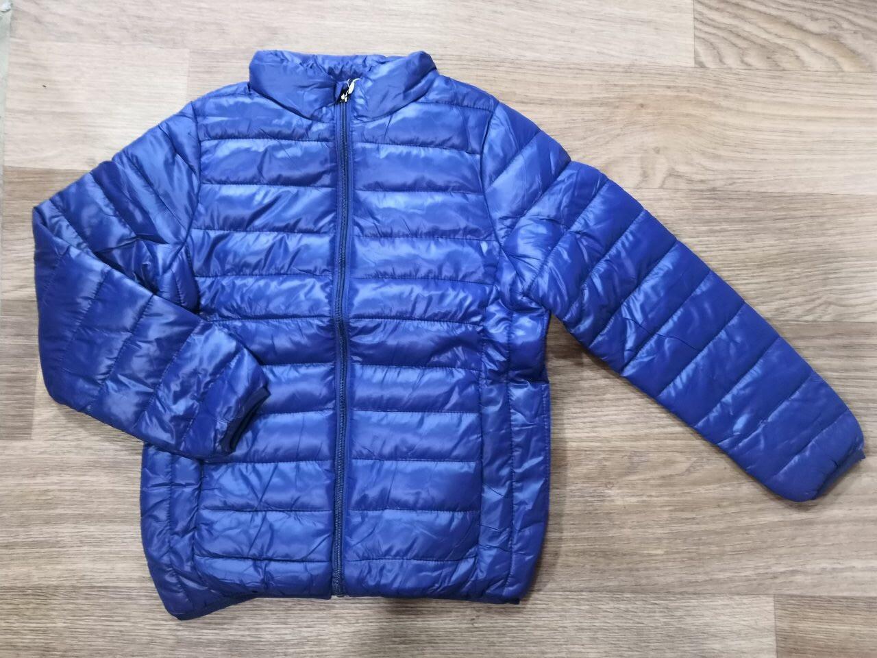 Куртка демисезонная на мальчика цвет темно синий 134-140 см