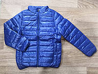 Куртка демисезонная на мальчика цвет темно синий 134-140 см, фото 1