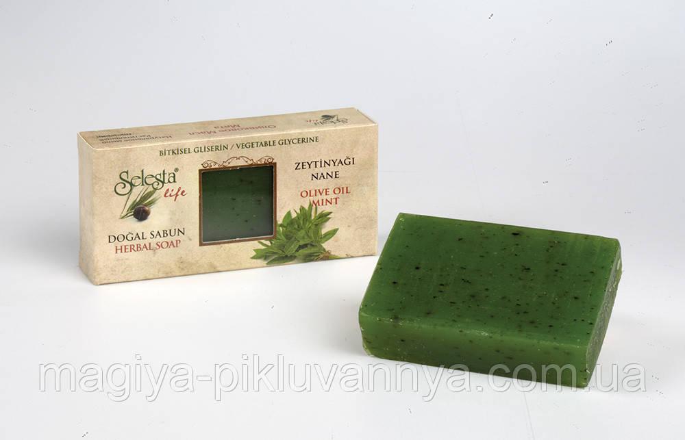 SELESTAlife Глицериновое мыло Мята (Растительный глицерин, оливковое масло и мята.) 100 г