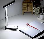 Аккумулятная настольная лампа DP LED-666 | Складная лампа трансформер, фото 9