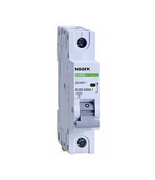 Автоматичний вимикач Noark 6кА, х-ка B, 40А, 1P, Ex9BN, 100012