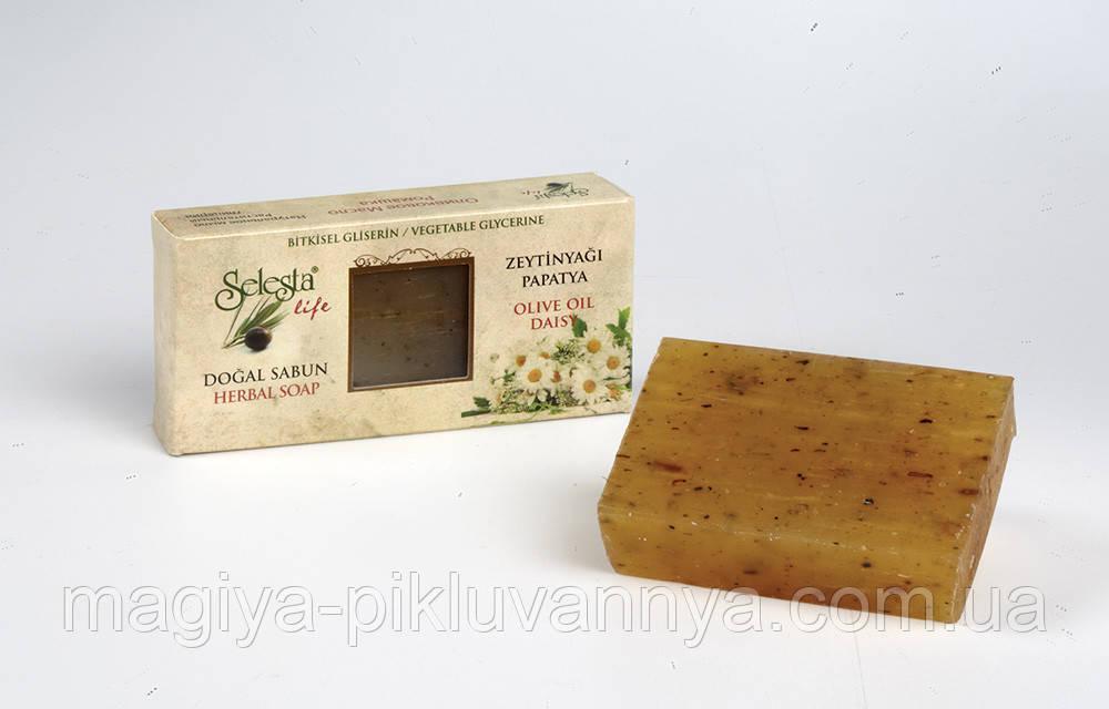 SELESTAlife Глицериновое мыло  Ромашка (Растительный глицерин, оливковое масло и ромашка.) 100 г