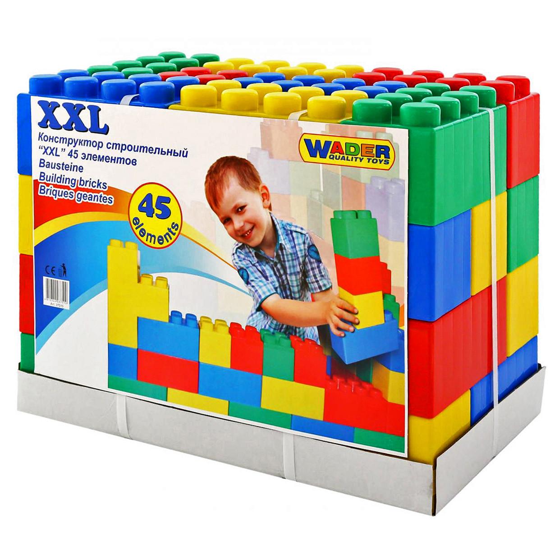 Конструктор строительный XXL, 45 элементов, «Wader» (37510)