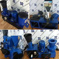 Сенорезка + зернодробилка + корморезка + кукурузолущилка + экструдер + гранулятор ГКМ-150 (380 В, 4 кВт)