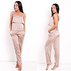 """Пижама женская шелковая с брюками «Агния"""", фото 3"""