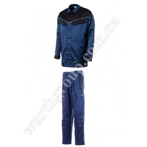 Комплект Сварщика куртка и брюки синий Wurth
