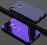 Зеркальный умный Smart чехол-книжка для Huawei Honor 8X / Есть защитные стекла Фиолетовый
