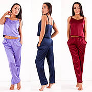 Пижама шелковая  майка и брюки