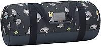 Универсальная спортивная сумка 30 л Bagland Staff принт 24*54*24 см (черный/еноты)
