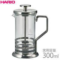 HARIO френч-пресс для кофе и чая 300 мл нержавеющая сталь, стекло., фото 1