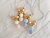 Слингобусы ФРЕЯ вязаные мини 2 цветные бусины 2, фото 1