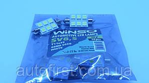 WINSO Автолампа LED 12V SV8.5 T11x39 6Leds 5050 white
