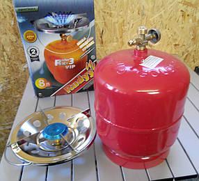 Примус - Газовая печка портативная с баллоном на 8 литров,Отличный  подарок, Очень  удобный в использовании