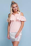 Блузка женская c рюшей на лето, фото 1