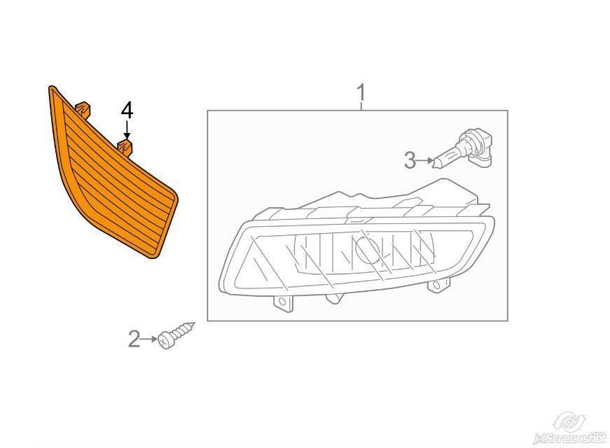 Накладка на противотуманные фары левая VW PASSAT USA 12-15
