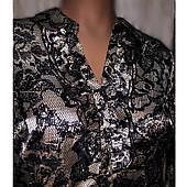 Женская блуза Bm большого размера из атласа с кружевным принтом, размер 52/56