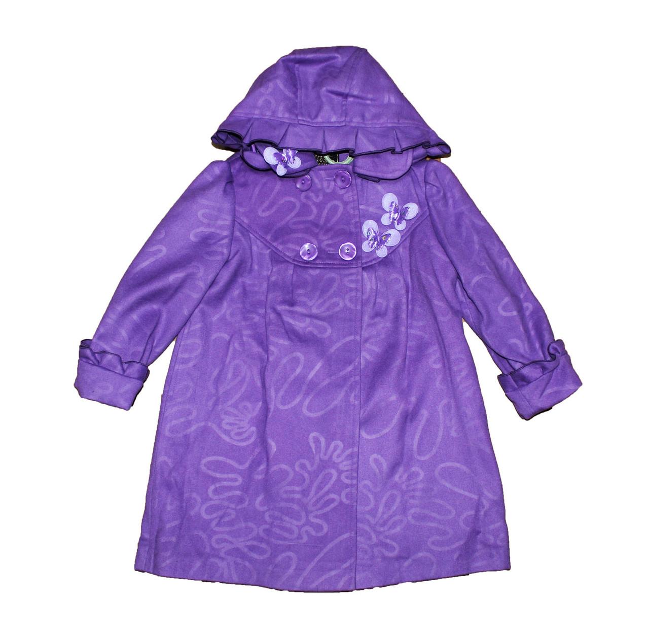Пальто дитяче кашимировое для дівчинки .Півонія