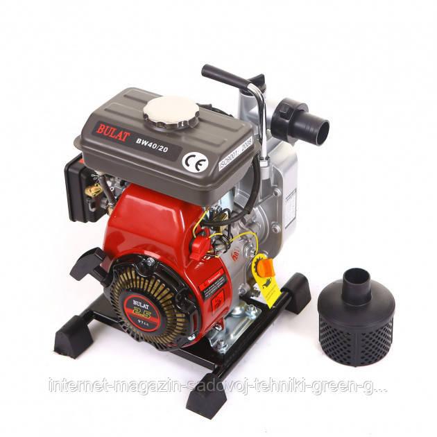 Мотопомпа бензиновая Bulat BW40-20 (40 мм, 27 м куб./час)