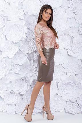 Костюм юбка экокожа 74241, фото 2