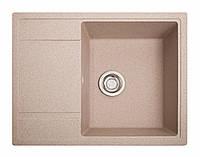 Кухонная мойка Оптима розовый из искусственного камня, фото 1