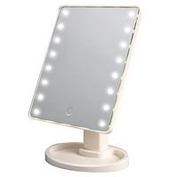 Настольное зеркало для макияжа SUNROZ с LED подсветкой 22 светодиода Черное