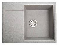 Кухонная мойка Оптима серый из искусственного камня, фото 1