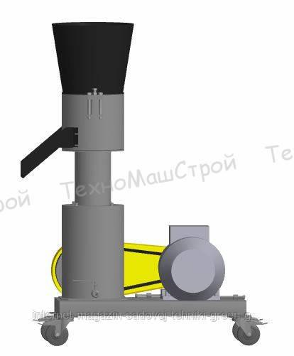 Гранулятор топливных пеллет МГК-200 (220 В, 5,5 кВт) матрица 200 мм, 200 кг/час