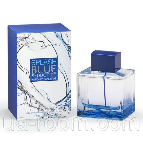 Antonio Banderas Blue Seduction Splash, мужская туалетная вода 100 мл., фото 2