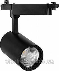 Трековый светильник 12W 960lm 4000k IP40 Feron черный
