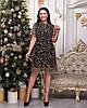 Платье женское Звездочки Ткань масло сетка Размеры 48-50,52-54, фото 2