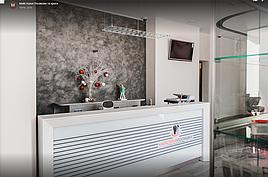 """Выполнили проект реконструкции помещений в г.Киев под стоматологическую клинику """"Майстерня посмішки"""". Клиника на 4 кабинета с с операционной и рентгендиагностическим кабинетом. Площадъ - 225м2."""