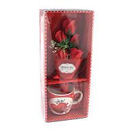 Подарочный набор букет роз в чашке Love