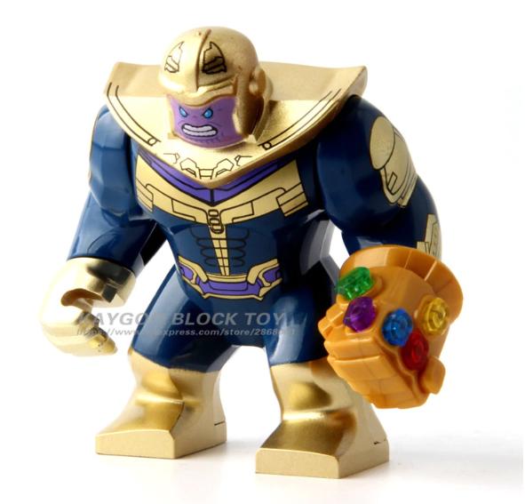 Большая фигурка Танос лего 7-9 см конструктор аналог