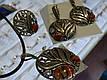 Серебряные серьги с яшмой, фото 3