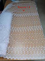 Фатіновий тюль з вишивкою высота 1.6 метра