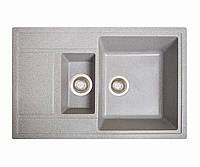 Кухонная мойка Практик серый из искусственного камня, фото 1