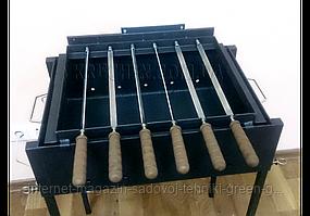 Мангал с электроприводом на 6 шампуров