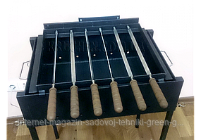 Мангал с электроприводом на 8 шампуров