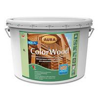 Декоративное защитное средство для древесины Aura ColorWood Aqua белый 9л