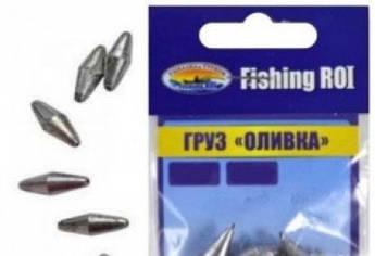 "Груз ""Оливка"" Fishing ROI  без покраски  2гр.  17шт."