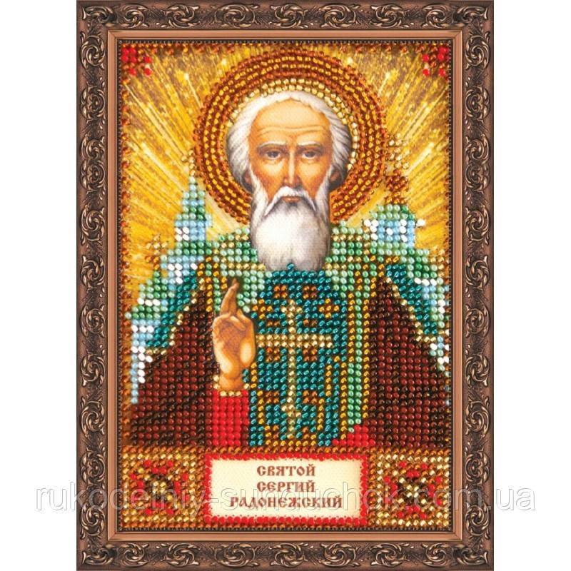 Набор для вышивки бисером ТМ Abris Art «Святой Сергий» ААМ-012