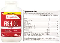 Walgreens, Рыбий жир, Омега-3, 1200 мг, 400 капсул