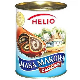 Mаковая масса с орехами и изюмом Helio Masa Makowa 850 гр., фото 2