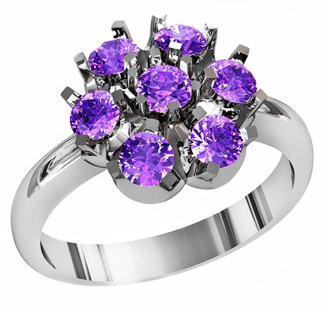 Кольцо  женское серебряное Lilac 212 650