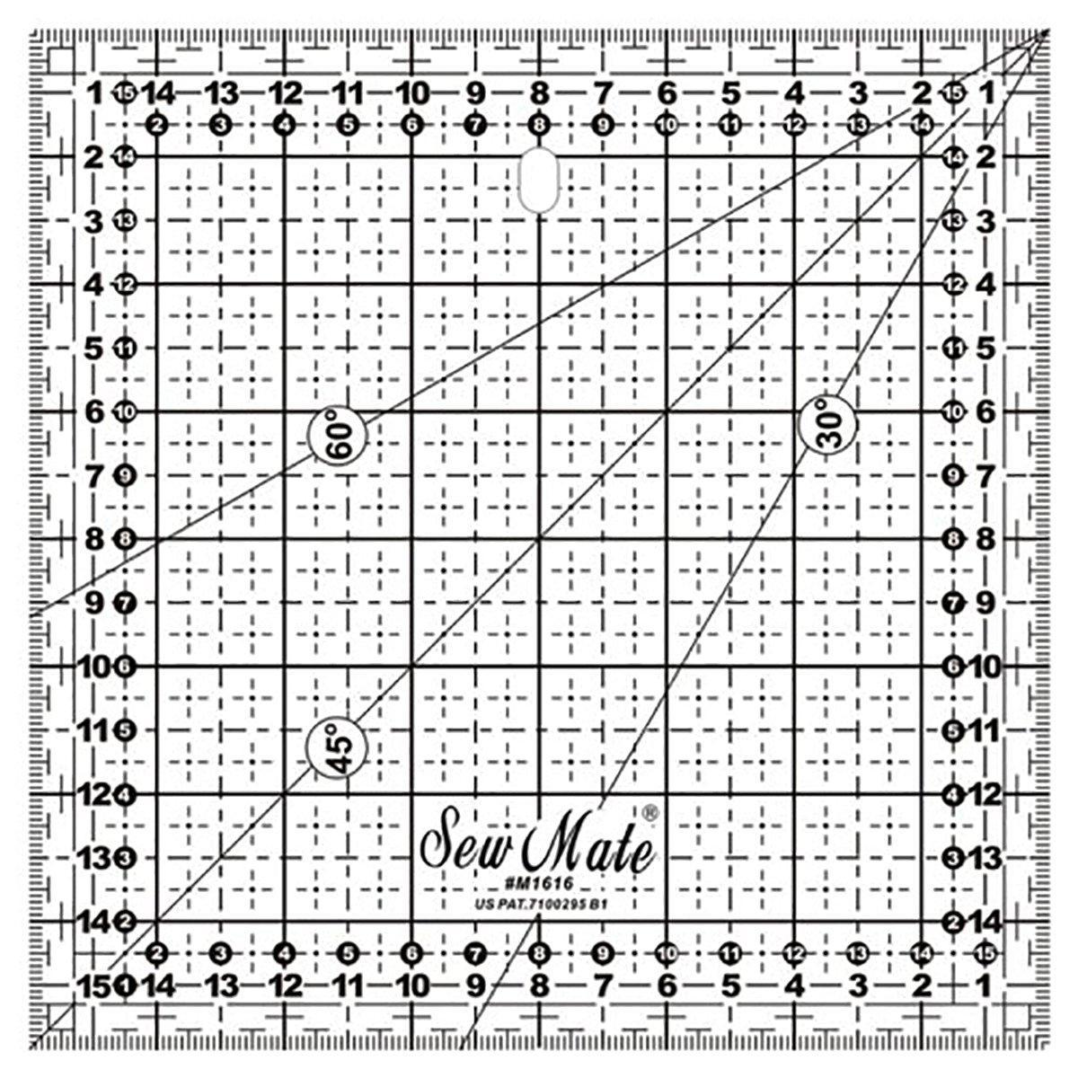 Лінійка для печворку Sew Mate M1616-BK (16 x 16 см)