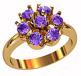 Кольцо  женское серебряное Lilac 212 650, фото 2