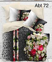 """Комплект постельного белья ALTINBASAK Сатин 3D """"abt 72"""" Евро"""