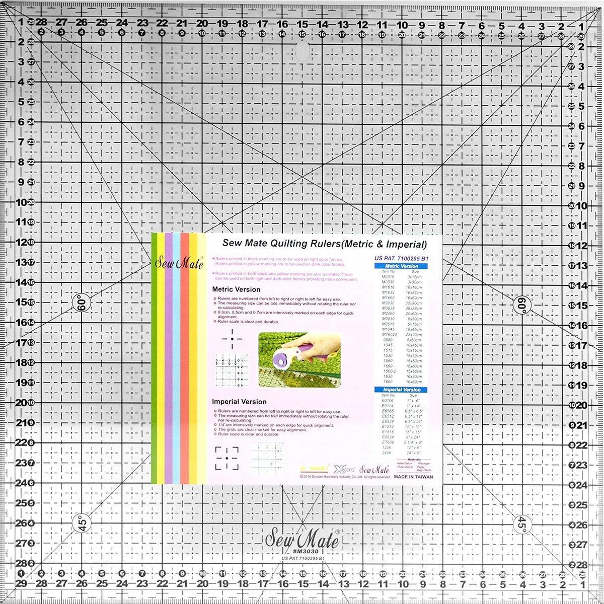 Линейка-квадрат Sew Mate M3030-BK (30 x 30 см)